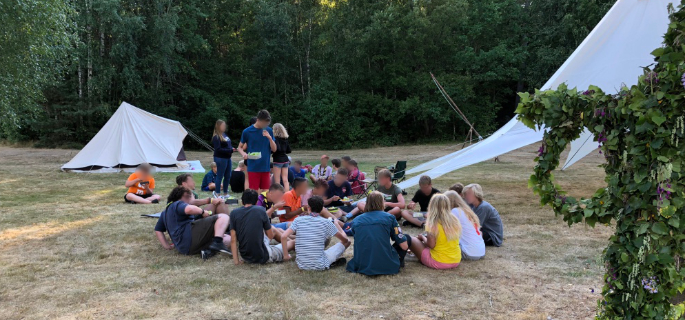 Unprompted, the groups sat together demonstrating all that is good about international scouting
